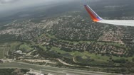 Stock Footage - HD 1080p - Commercial Jet Turning over residential Area - Audio Stock Footage