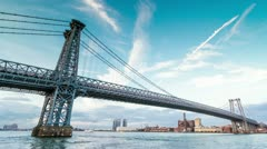Williamsburg Bridge in NYC Stock Footage