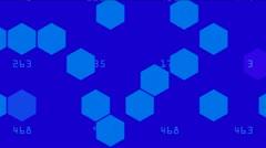 Hexagon chemical molecular. Stock Footage