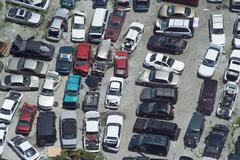 Junk cars automobiles junkyard Stock Photos