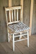 Wooden chair on wood porch dudley farm historic state park  florida old furni Stock Photos