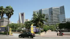 Pershing Square Los Angeles Stock Footage
