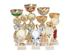various awards isolated on white - stock photo