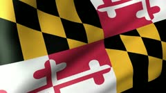 Maryland State Flag Waving Stock Footage