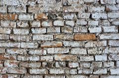 old brick wall hdr - stock photo