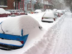 Snow storm in Canada Stock Photos
