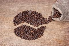 Picture of coffee beans Stock Photos