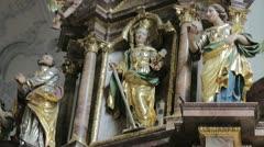 Religion decor statue Stock Footage