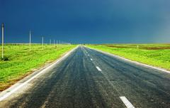 rural country highway - stock photo