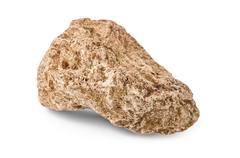stone isolated - stock photo