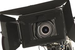 professional digital video camera. - stock photo