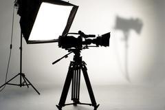 Studio lighting. Stock Photos