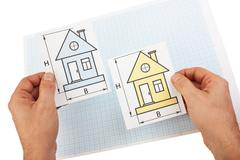 development drawings - stock photo