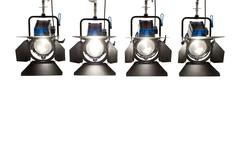 four  searchlights. - stock photo