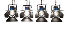 Four  searchlights. Stock Photos