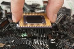 computer processor - stock photo