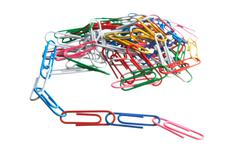 Pile of paperclips Stock Photos