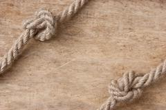 Stock Photo of frame made of rope