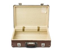 Open old suitcase Stock Photos