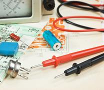 electronic components - stock photo