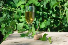 Stock Photo of glass of wine