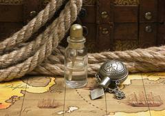 vials of perfume oils - stock photo