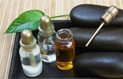 set of perfume oils - stock photo