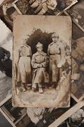Stock Photo of vintage photo shows red army soldiers, the russian federation