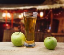 Stock Photo of apple juice