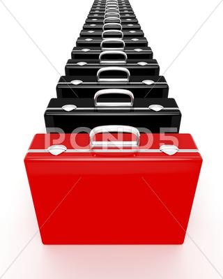 Stock Illustration of unique red briefcase