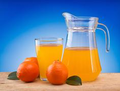 Stock Photo of tangerine juice