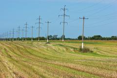 High voltage power pole Stock Photos