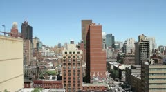 Aerial shot of Manhattan Upper East Side Stock Footage