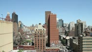 Stock Video Footage of Aerial shot of Manhattan Upper East Side