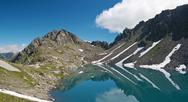 Pietra rossa lake, italian alps Stock Photos