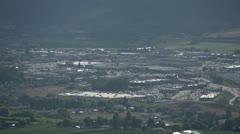 Distant malls from far hillside, urban sprawl Stock Footage