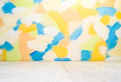 empty color interior - stock photo