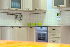 Classic kitchen interior Stock Photos
