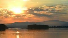 Columbia River sunrise Timelapse Stock Footage