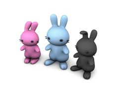 3 bunny Stock Illustration