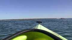 Kayaking on sea Stock Footage