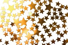 Holiday stars background isolated Stock Photos