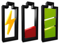 battery icon - stock illustration