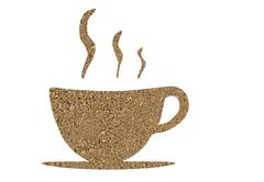 Stock Illustration of structure of coffee as a cup