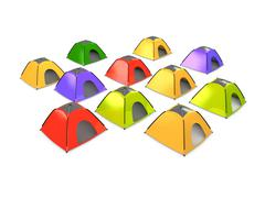 camp - stock illustration