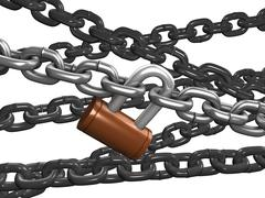 chain lock - stock illustration