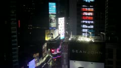 Times Square at night Stock Footage