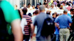 Streets Busy with Tourists Commuters - stock footage