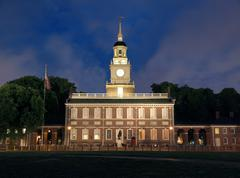 independence hall solo - stock photo