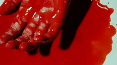 Twitching Bloody Hand - stock footage